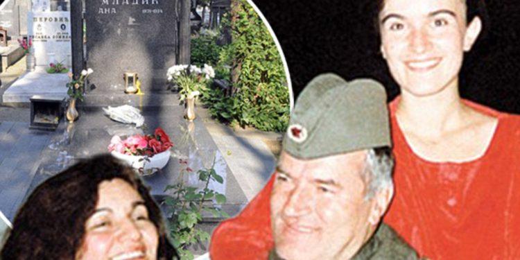 Ratko Mladic and daughter Ana Mladic, and his wife