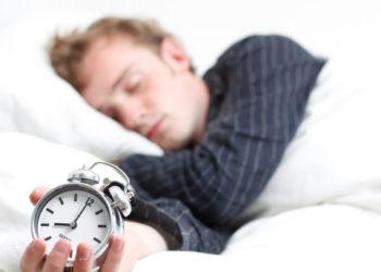 A man sleeping